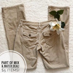 ! 3/$15 The Limited Drew Fit Corduroy Tan pants MB